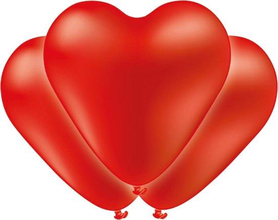 Tib Hart-ballonnen 38 Cm Latex Rood 5 Stuks