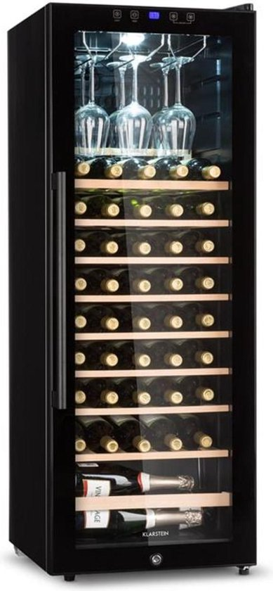 Koelkast: Klarstein Barossa Wijnkoelkast 2 zones - Temperatuurbereik: 5 - 18°C - glazen deur - LC display, van het merk Klarstein