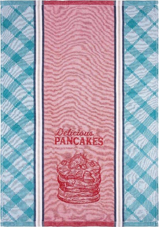 Clarysse Theedoek Pancakes Blauw 50x70cm