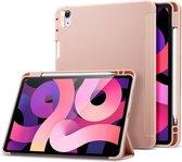 ESR - iPad Air 2020 hoes - 10.9 inch - Rebound Tri-Fold Case met Pencil Houder - Auto Wake Functie - Rosé Goud
