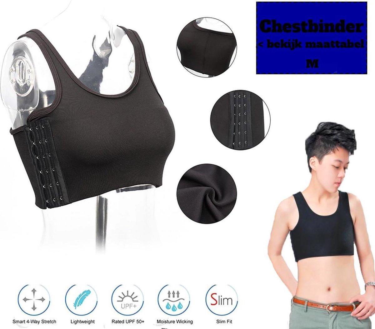 Transgender Ondergoed - Zwart - Maat M - Trans Binder - Breast Binder - Genderdysforie - Chestbinder