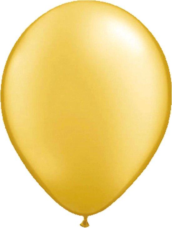 20x stuks Metallic gouden party ballonnen - Verjaardag feestartikelen/versiering
