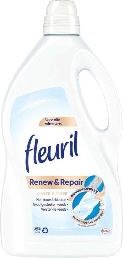 Fleuril Renew & Repair White & Fiber Wasmiddel - Witte Was - Grootformaat - 65 wasbeurten