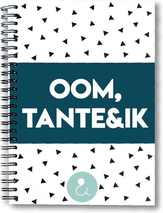 Oom cadeau - tante cadeau - tange boek - oom boek - liefste tante - oom - tante - dagboek - Oom,tante&ik mint stip - Studio Ins & Outs