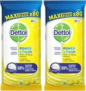Dettol Multi-Reinigingsdoekjes Citrus - 80 doekjes - 2 pakken