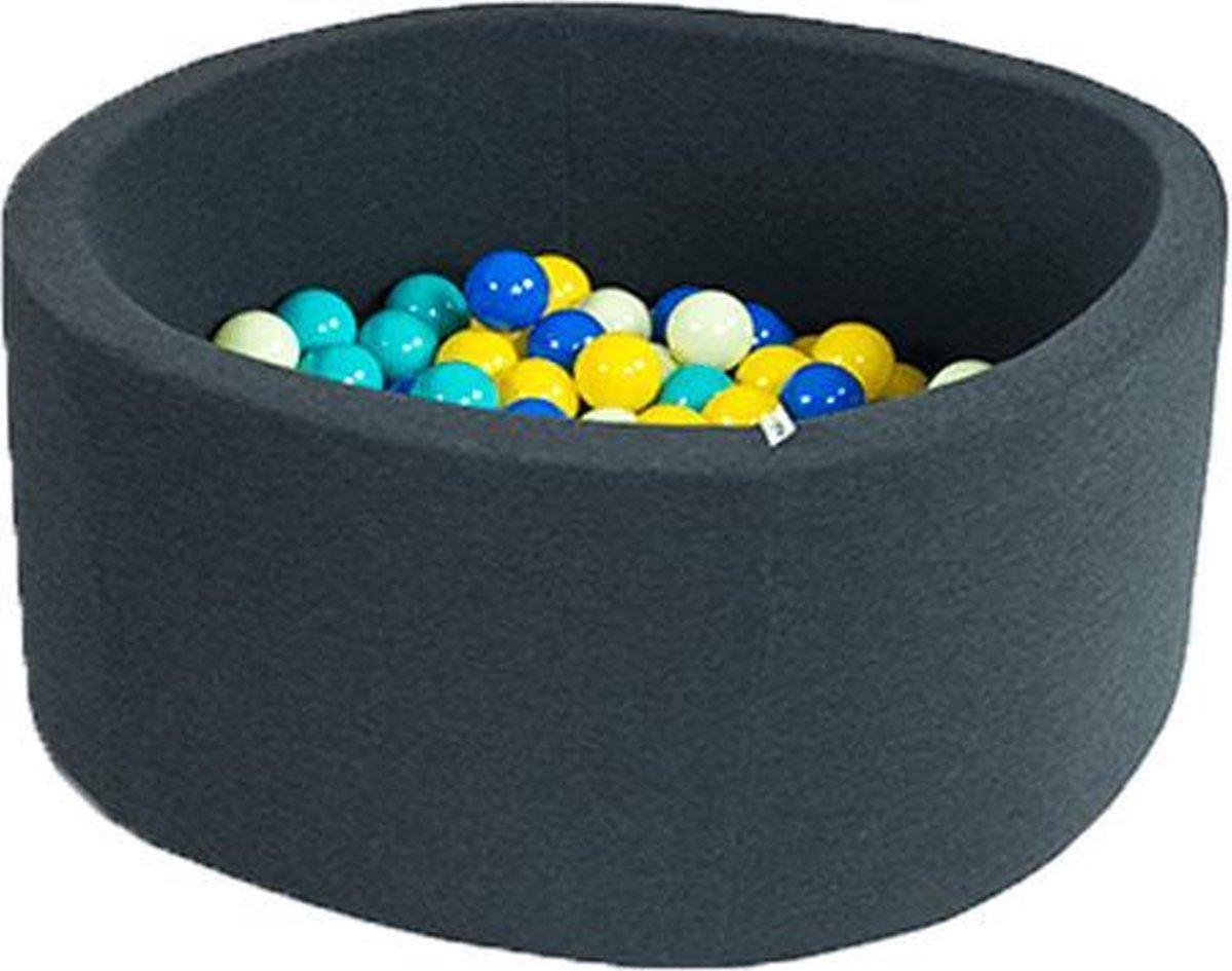 Ronde Ballenbad 100x40 Smart Grafiet - Ballenbad baby - Ballenbad Rond - Ballenbad Misioo - Ballenbak baby - Ballenbak - Luxe ballenbak voor kinderen - Luxe ballenbad voor kinderen - Ballenbad