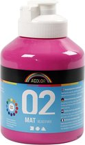 A-Color acrylverf. roze. 02 - matt. 500ml