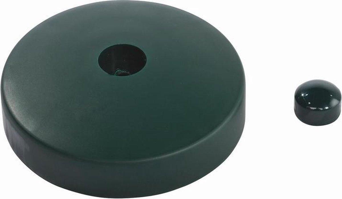 Paalornament Rond kunststof Ø120 mm Groen