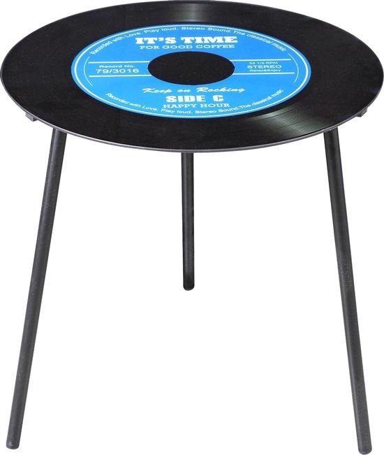 Vinyl koffietafel – blauw – Uniek exemplaar voor muziekliefhebbers - Vinylplaat