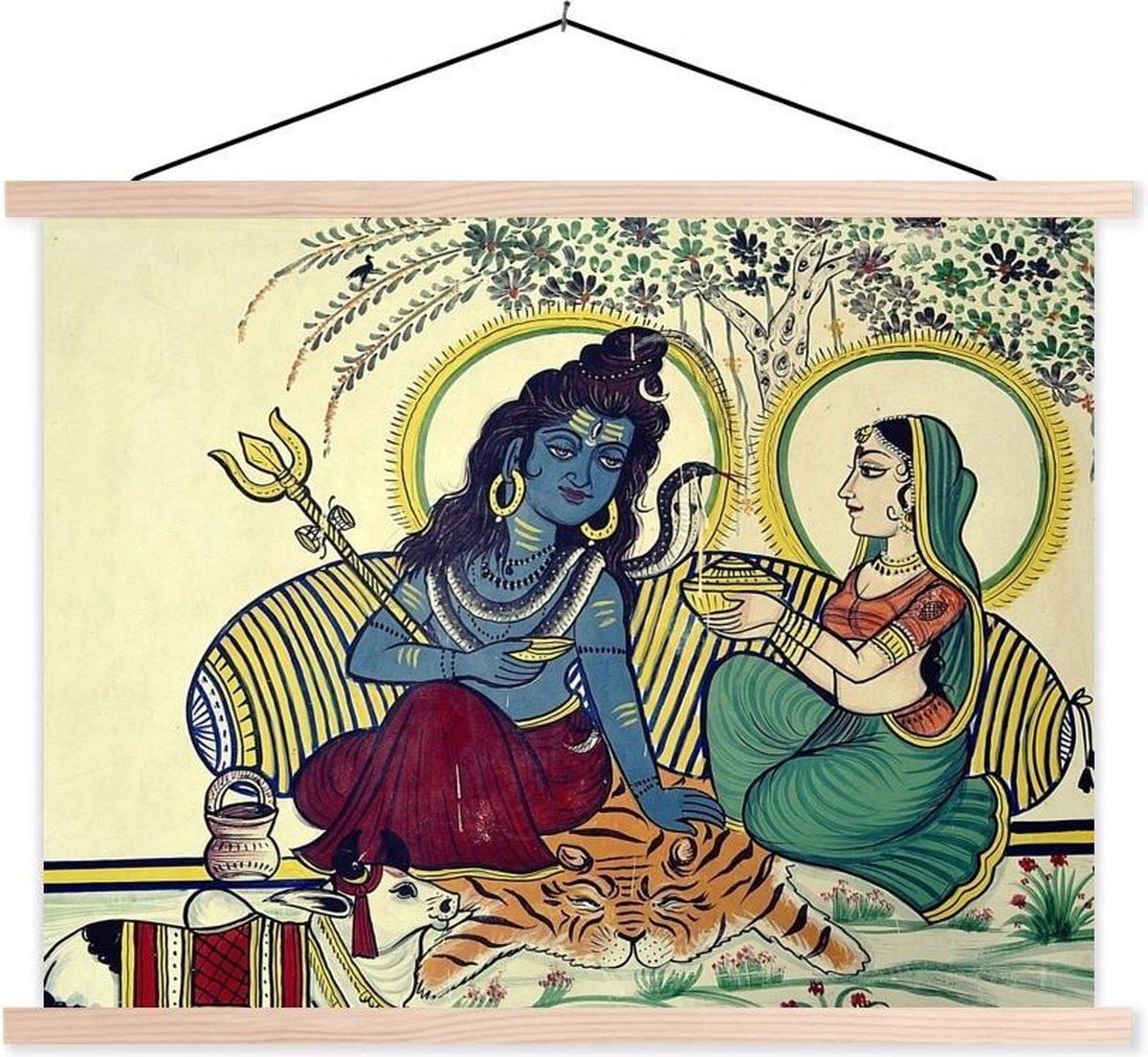 Fotobehang vinyl - Hindoe fotobehang van Shiva schoolplaat platte latten blank breedte 40 cm x hoogte 30 cm - Foto print op behang (in 7 formaten beschikbaar) - Foto print op textielposter (wanddecoratie woonkamer/slaapkamer)