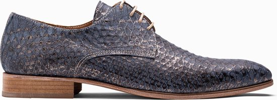 Paulo Bellini Dress Shoe Carbonia Leather Blue.