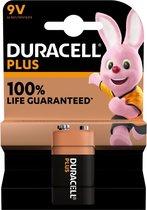 Duracell Plus 9 V batterijen, 1 stuk