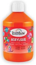 Rainbow acrylverf, flacon van 500 ml, oranje