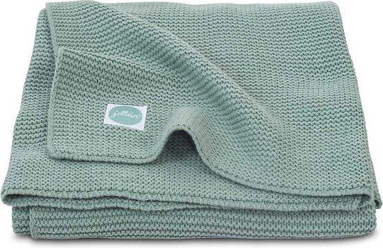 Product: Jollein Basic Knit Ledikantdeken - 100 x 150 cm - Forest Green, van het merk Jollein