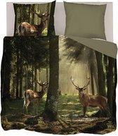 Snoozing Sunrise Forest - Dekbedovertrek - Lits-jumeaux - 240x200/220 cm + 2 kussenslopen 60x70 cm - Multi kleur