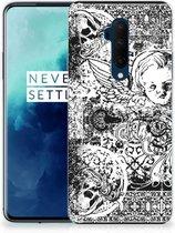 Silicone Back Case OnePlus 7T Pro Skulls Angel