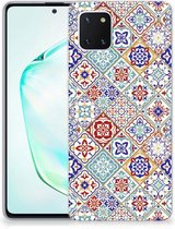TPU Siliconen Hoesje Samsung Galaxy Note 10 Lite Tiles Color