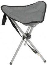 Opvouwbare campingkruk/vissersstoeltje grijs - Handig op reis/camping
