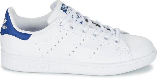 adidas Stan Smith J Sneakers - Cloud White/Cloud White/Eqt Blue - Maat 36 2/3