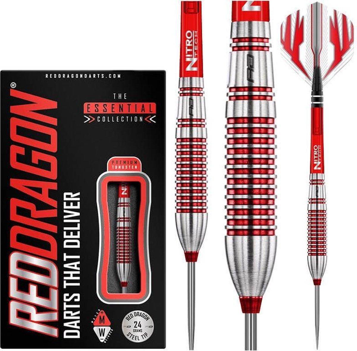 RED DRAGON - Reflex: Steeltip Tungsten Dartpijlen Professioneel - 24 gram