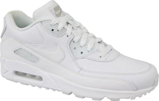 Nike Air Max 90 Leather Sportschoenen Maat 42.5 Mannen wit