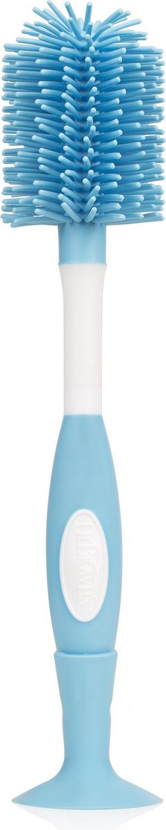 Dr. Brown's Flessenborstel - blauw siliconen
