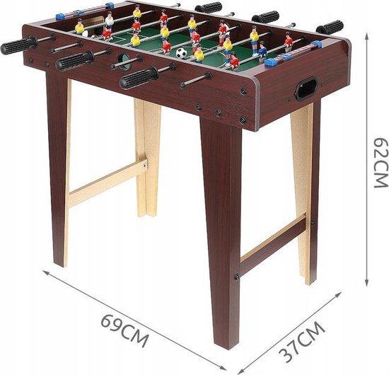 Thumbnail van een extra afbeelding van het spel Staande Houten Voetbaltafel - Kickertafel - Tafelvoetbaltafel Spel - Inclusief 5 Ballen - 69x37x62 CM