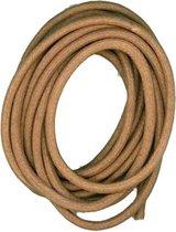 Cotton wax cord 2 mm/1 m copper - 6 stuk