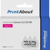 Huismerk Canon CLI-521M Inktcartridge Magenta