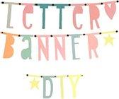 Letterslinger DIY - 147 Letters - Pastel Kleuren