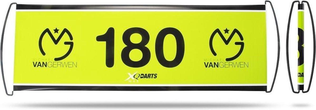 Xq Max Banner Michael Van Gerwen Groen/zwart 70 X 24 Cm