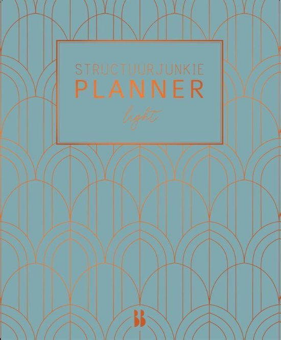 Structuurjunkie planner - Art deco (lichtblauw)