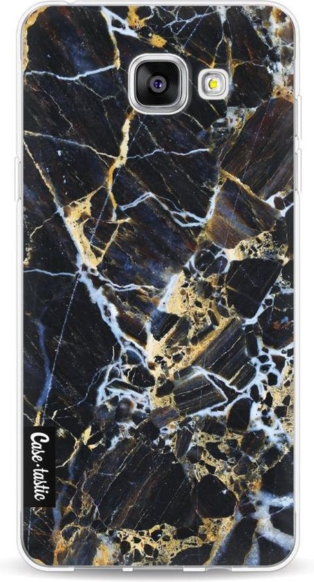 Casetastic Samsung Galaxy A5 (2016) Hoesje - Softcover Hoesje met Design - Black Gold Marble Print