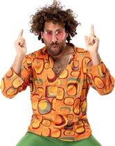 Hippie Kostuum | Jaren 70 Hippie Soul Disco 60s Agent Orange Shirt Man | Small | Carnaval kostuum | Verkleedkleding
