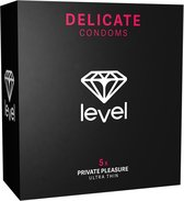 Level Private Pleasure Condooms Level Delicate Condoms - 5x zwart