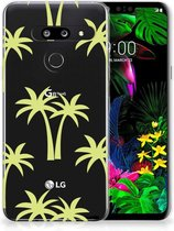 Back Cover LG G8 Thinq TPU Siliconen Hoesje Palmtrees