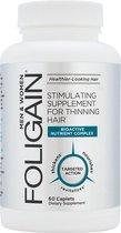 FOLIGAIN – Haargroei Capsules - Supplement tegen Haaruitval - Voor Langer, Gezonder en Dikker Haar - Hair Vitamins – 60 stuks