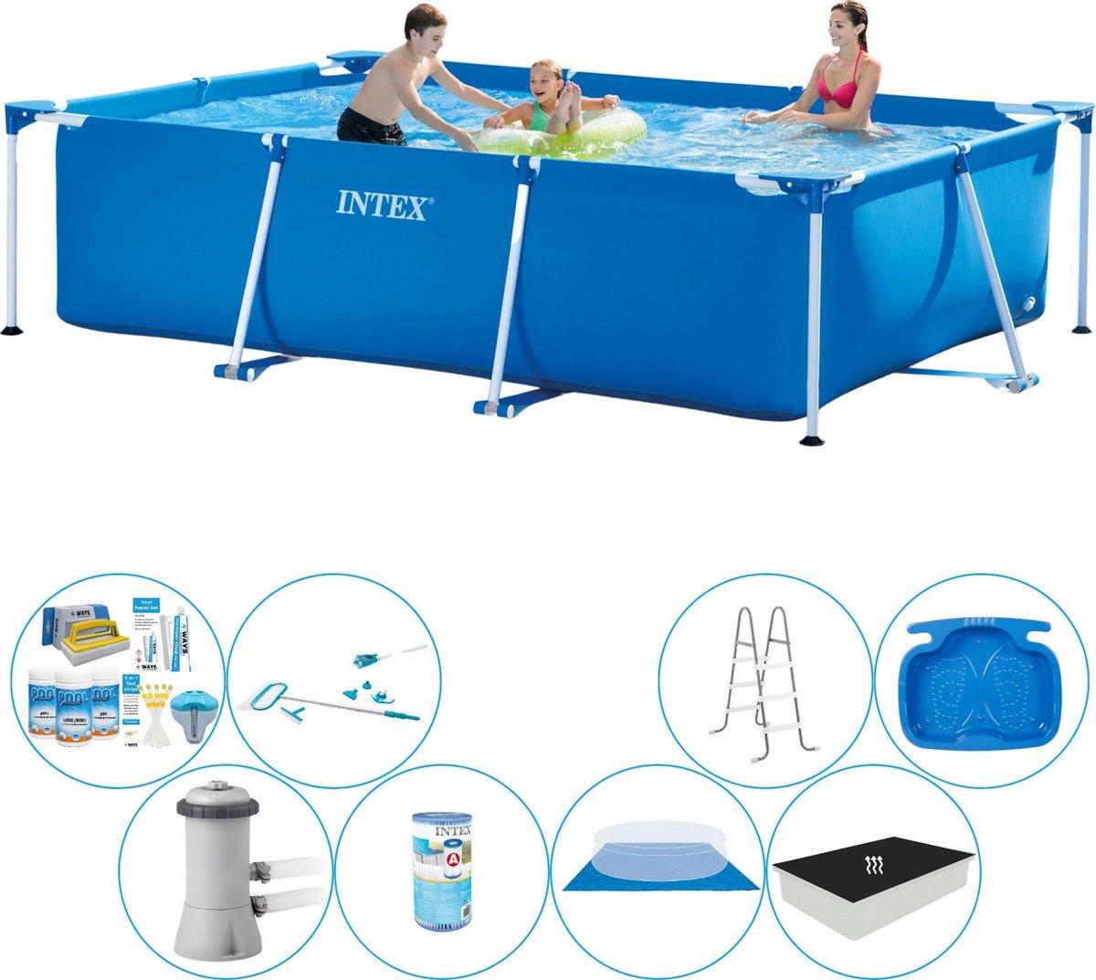 Intex Frame Pool Rechthoekig 300x200x75 cm - Deluxe Zwembad Deal
