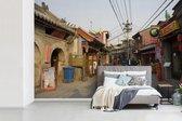Fotobehang Hutong - Hutong in Beijing breedte 390 cm x hoogte 260 cm - Foto print op vinyl behang (in 7 formaten beschikbaar) - slaapkamer/woonkamer/kantoor