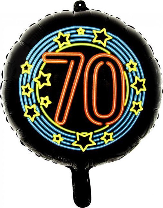 Wefiesta Folieballon 70 Neon 45 Cm Zwart