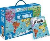Reis, leer en onderzoek - Boek + ovale puzzel  -   De Aarde - puzzel 200 stukjes en boek