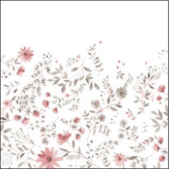 Siretessile Tafelkleed Atelier 140 X 180 Cm Katoen Wit/roze