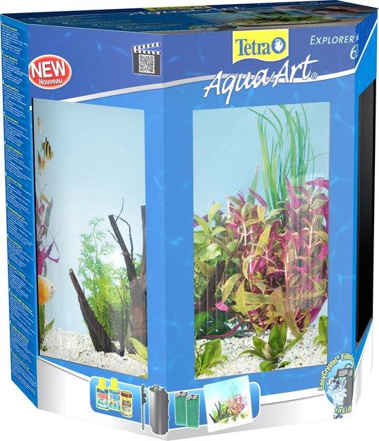 Tetra Aqua-Art aquarium Explorer line 60 liter, zwart.