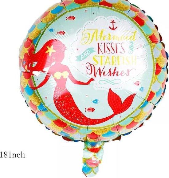 Folieballon zeemeermin , 40cm kindercrea