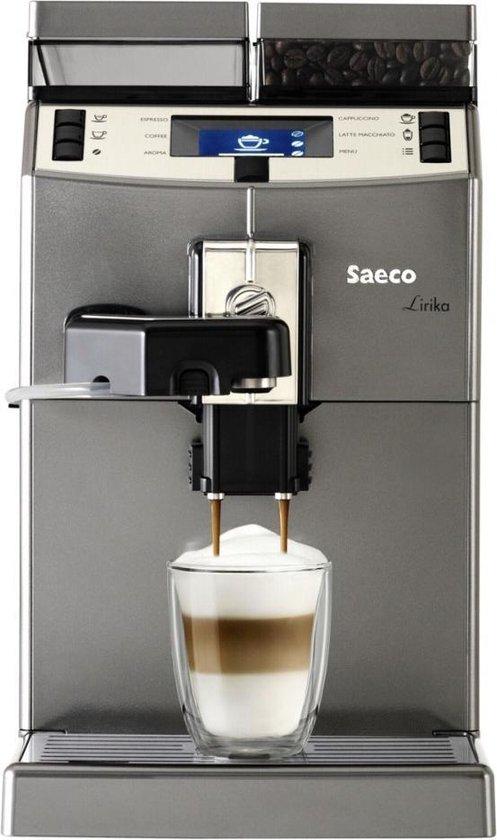 Saeco Lirika One Touch Cappuccino Espressomachine Zilver