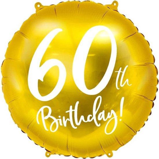 Folie ballon 60th Birthday - 45 centimeter