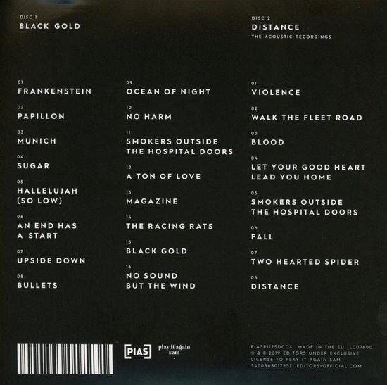 Black Gold: Best of Editors (2cd)