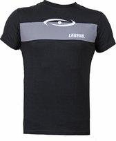 t-shirt zwart Legend grijs vlak  XXL