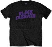 Black Sabbath Heren Tshirt -XL- Masters Of Reality Album met rug print Zwart