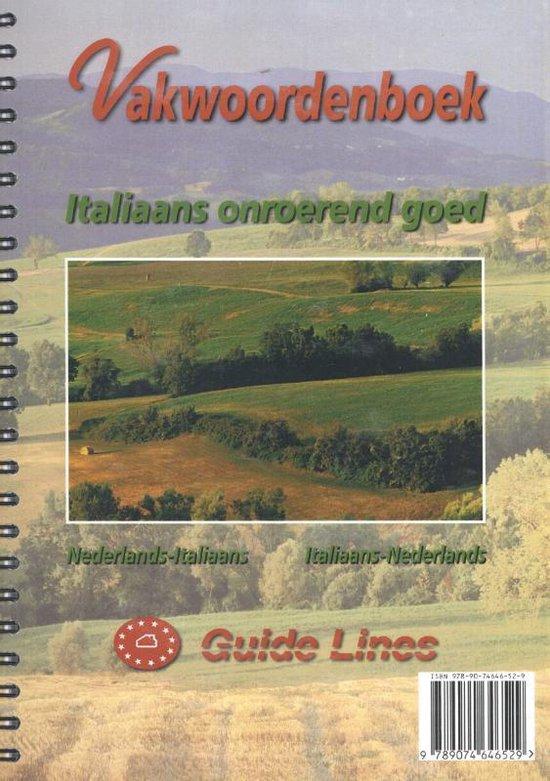 Vakwoordenboek Italiaans onroerend goed - P.L. Gillissen pdf epub